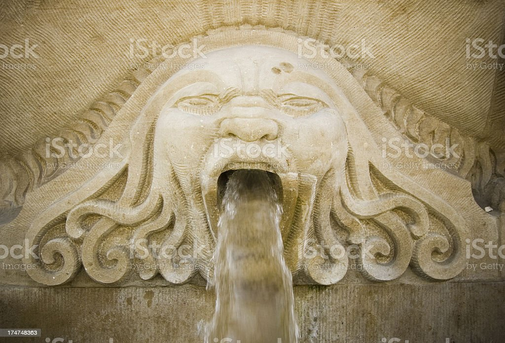 Stone Gargoyle stock photo