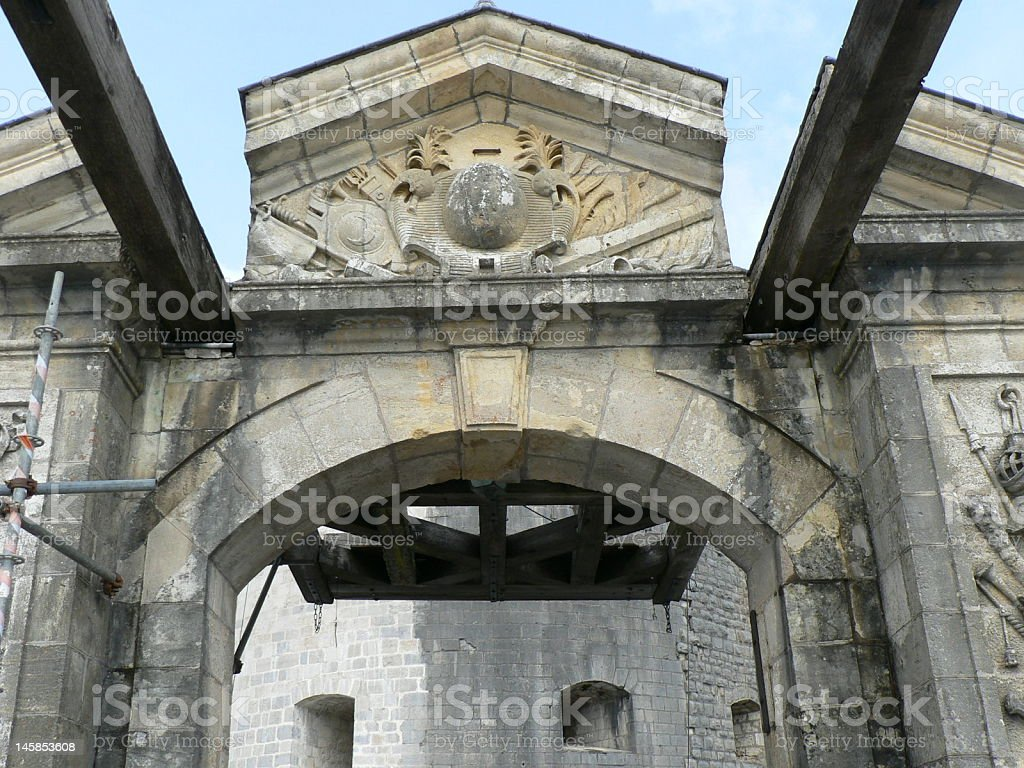 Stone gate stock photo