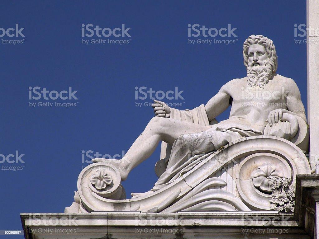 Stone God royalty-free stock photo