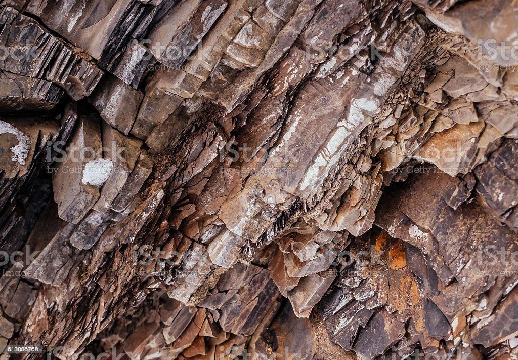 Stone granite rock. Texture of the stone stock photo
