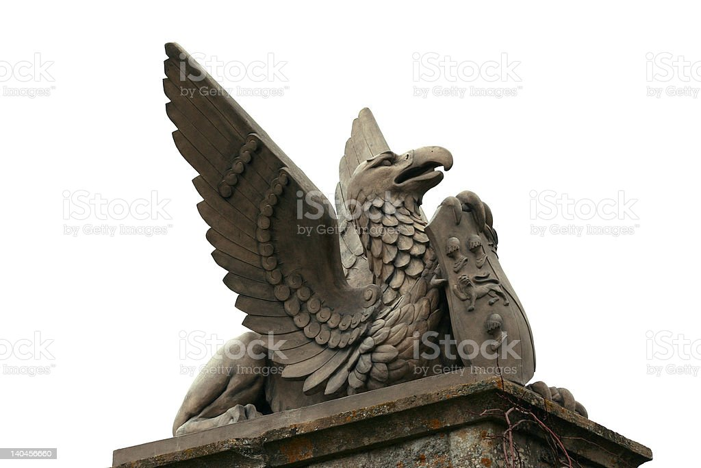 Stone Griffin Statue royalty-free stock photo