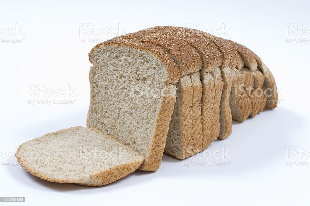 Stone ground wheat bread royalty-free stock photo