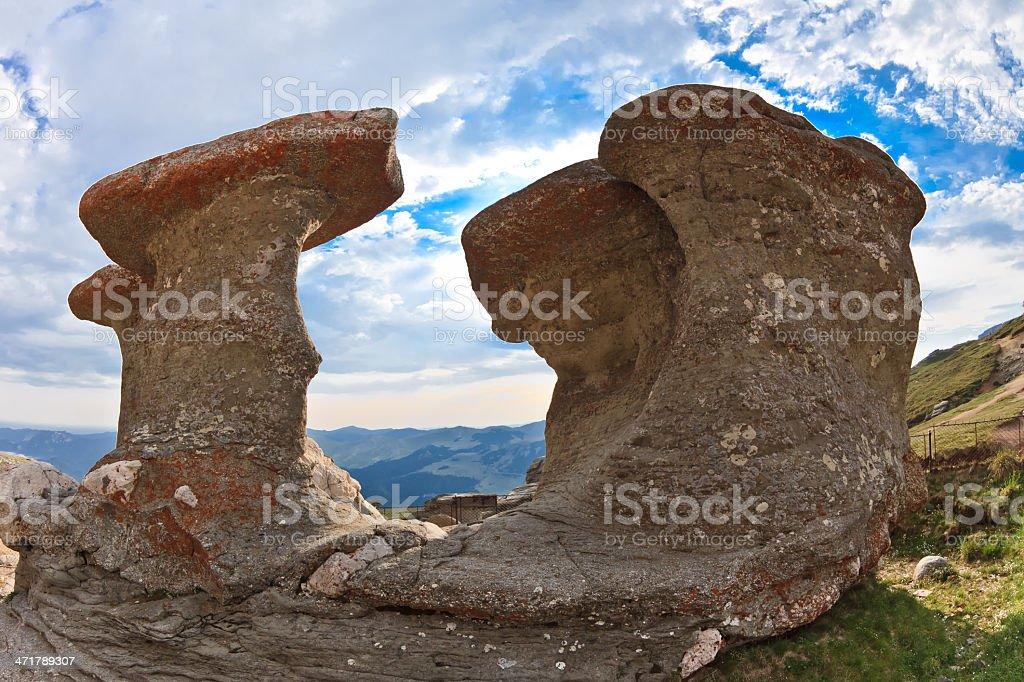 stone group in Carpathian Mountains royalty-free stock photo