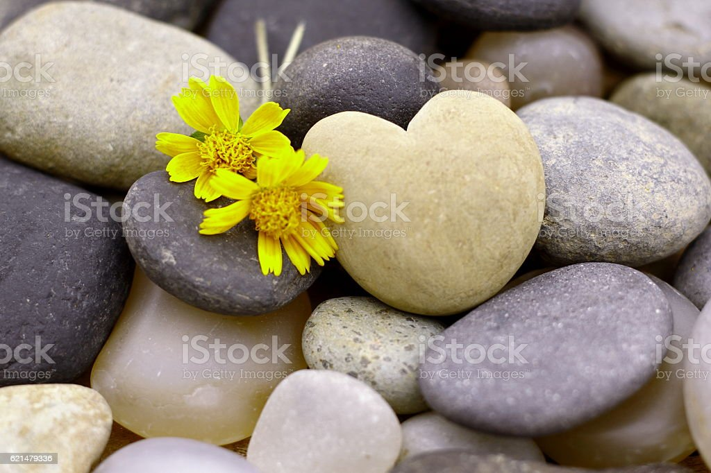 Stone heart. stock photo