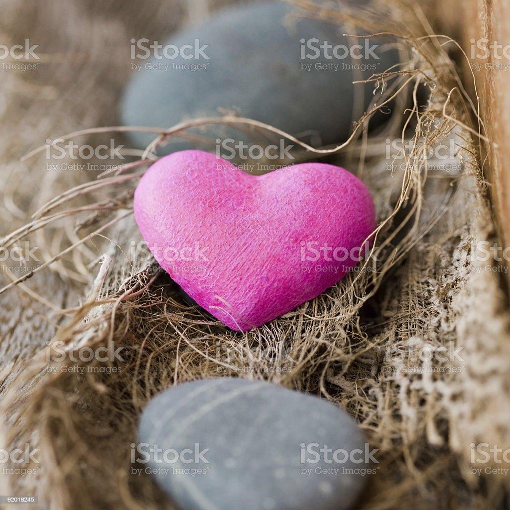 Coração de Pedra foto de stock royalty-free