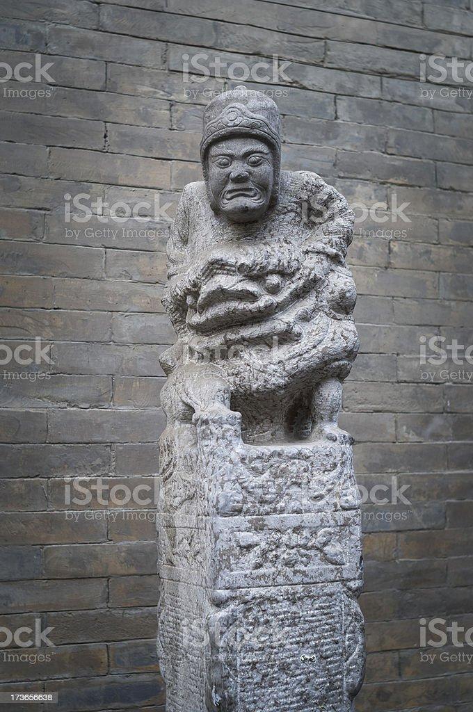 stone hitching post royalty-free stock photo