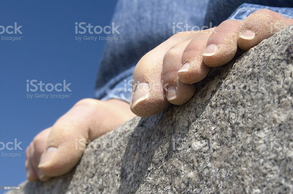 Stone hold royalty-free stock photo