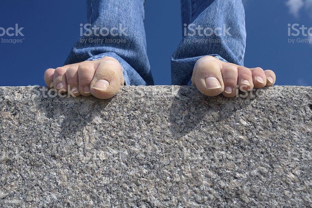 Stone hold-1 royalty-free stock photo