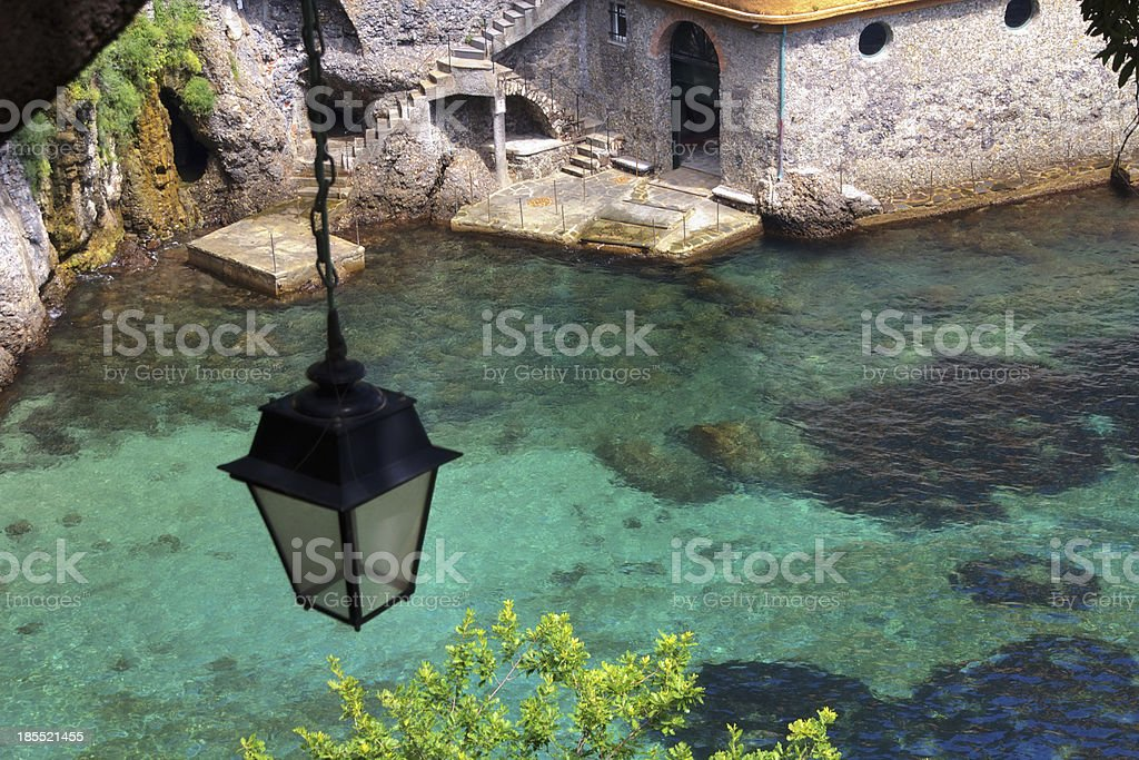 Stone house at the sea royalty-free stock photo