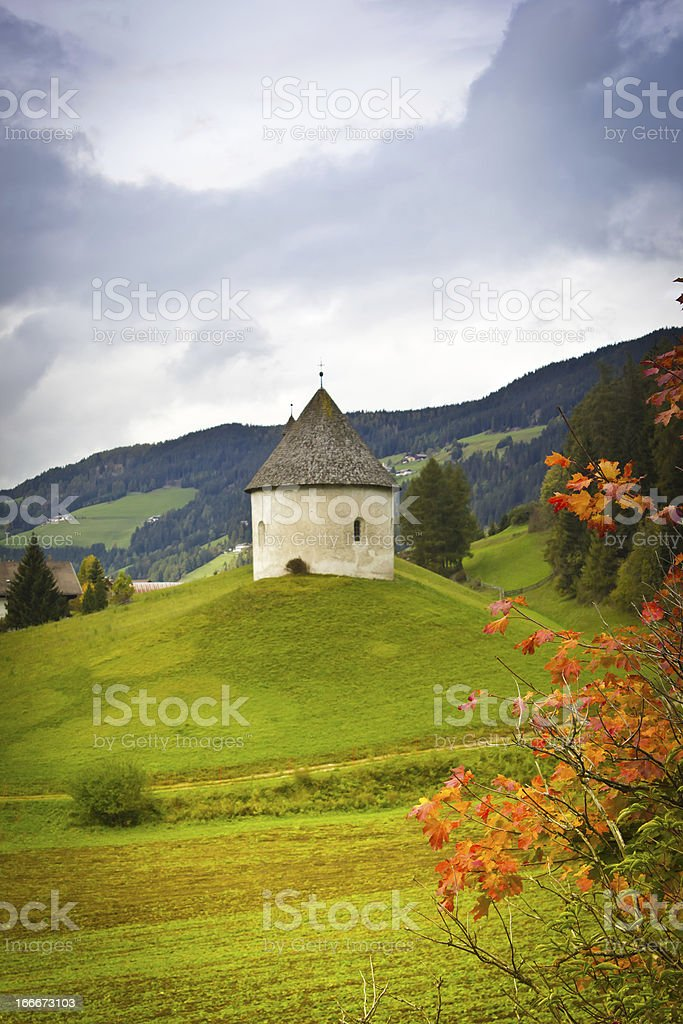 stone house on lawn royalty-free stock photo