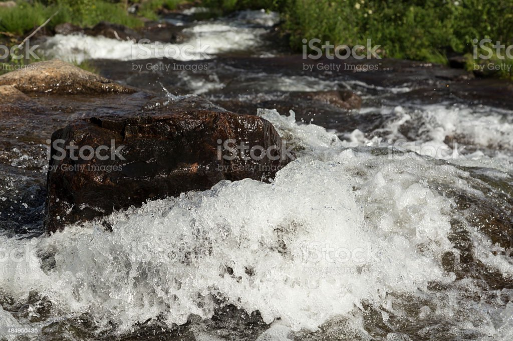 Stone in the river royalty-free stock photo