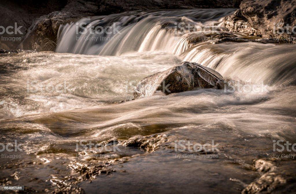 Stone in Waterfalls stock photo