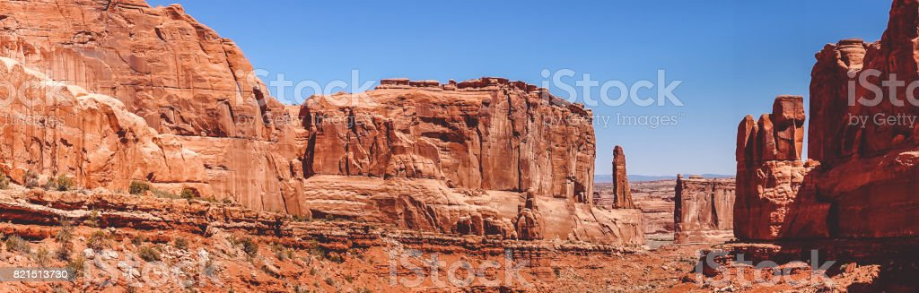 Stone labyrinth. Arches National Park stock photo