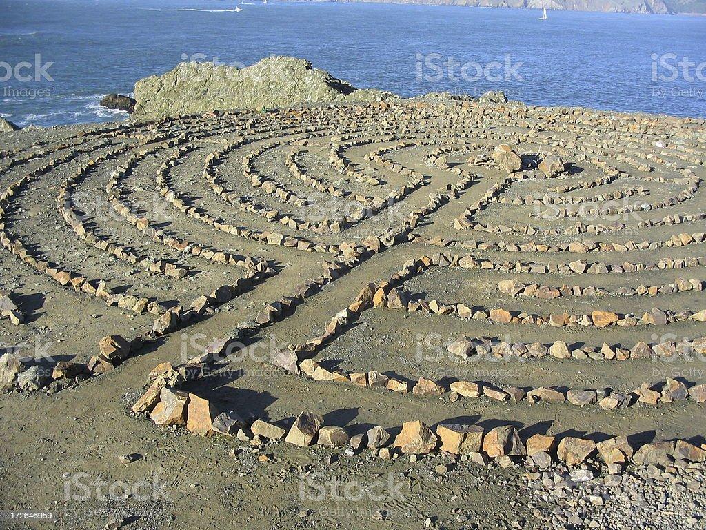 Stone Labyrinth - San Francisco royalty-free stock photo