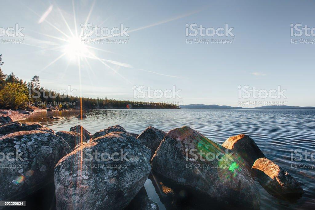 Stone Lake Beach Nature stock photo