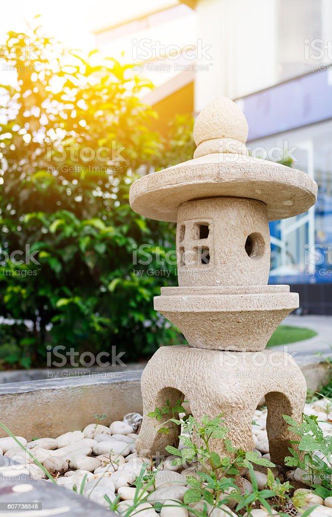 A stone Lantern in garden