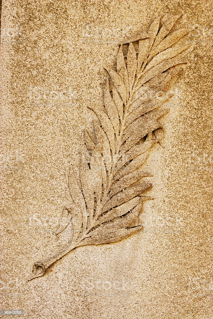 stone leaf royalty-free stock photo