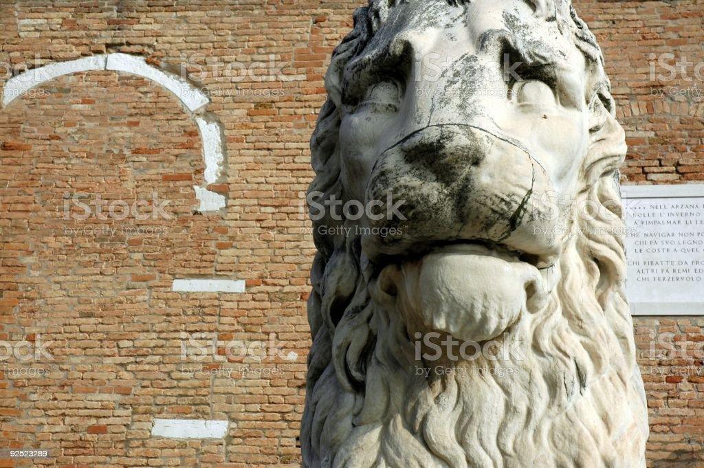 Stone Lion of the Arsenal, Venice, Italy. royalty-free stock photo
