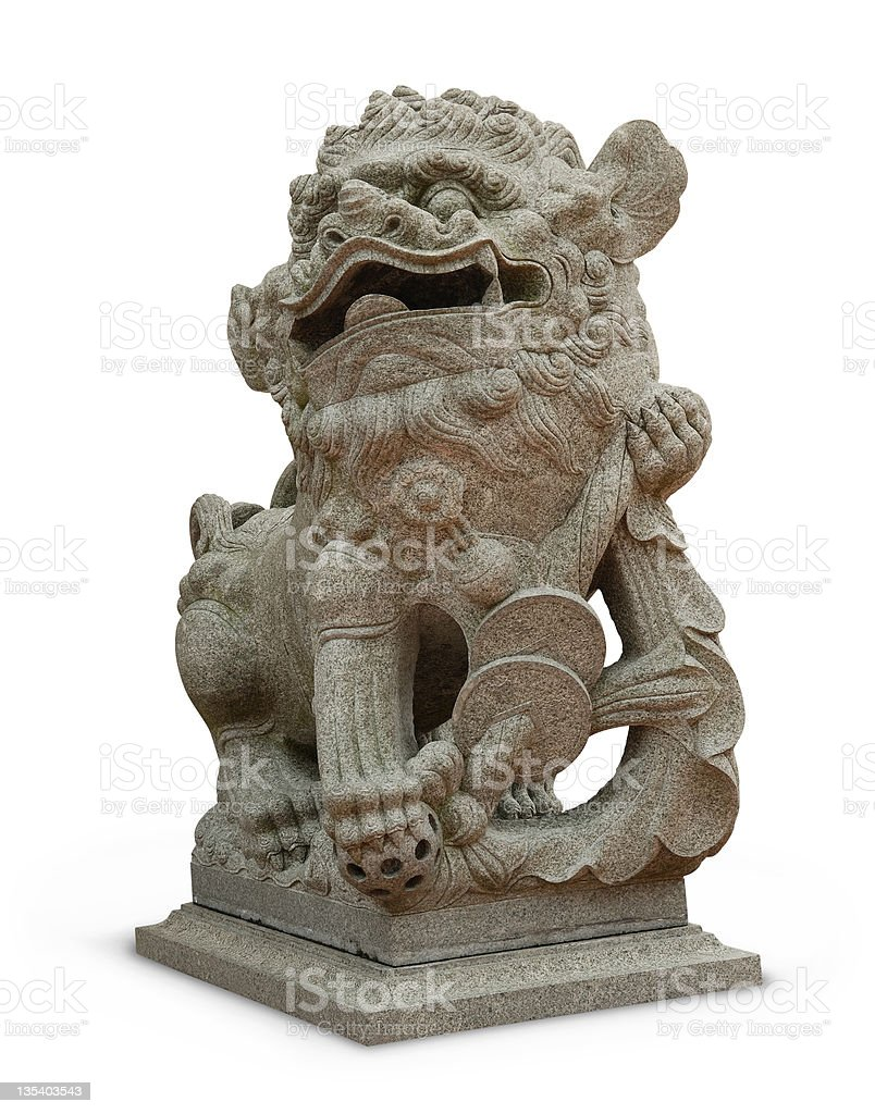 Stone Lion royalty-free stock photo