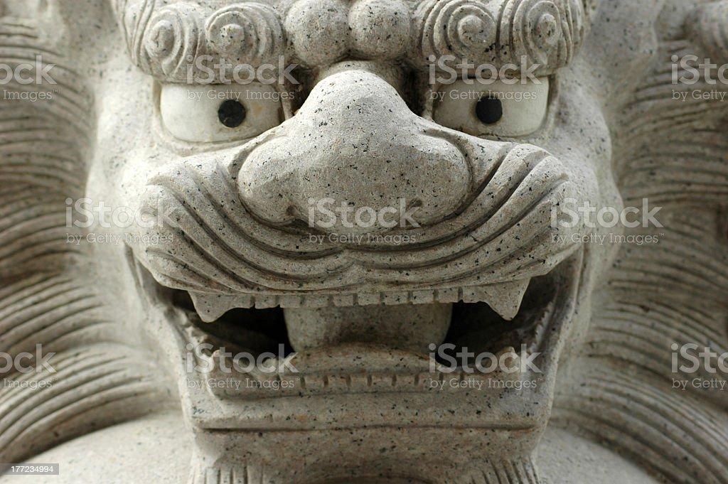 Stone lion stock photo