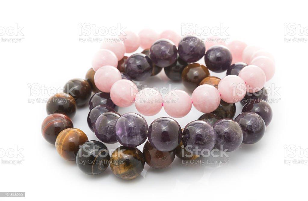 stone lucky bracelet stock photo