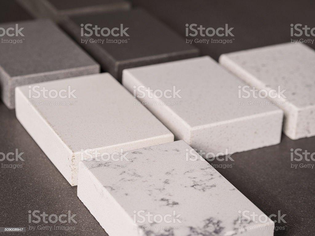 Stone, Marble & Granite Block Samples stock photo