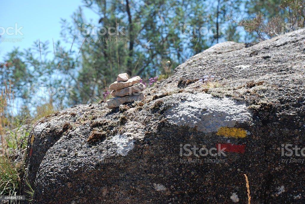 Stone marc stock photo