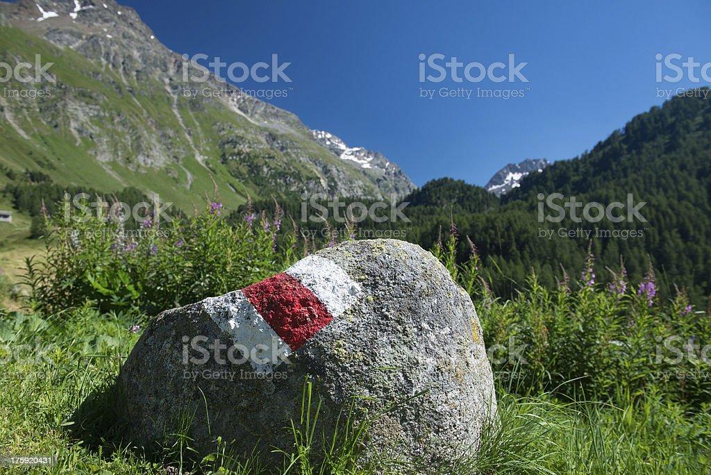Stone marker in Palu stock photo