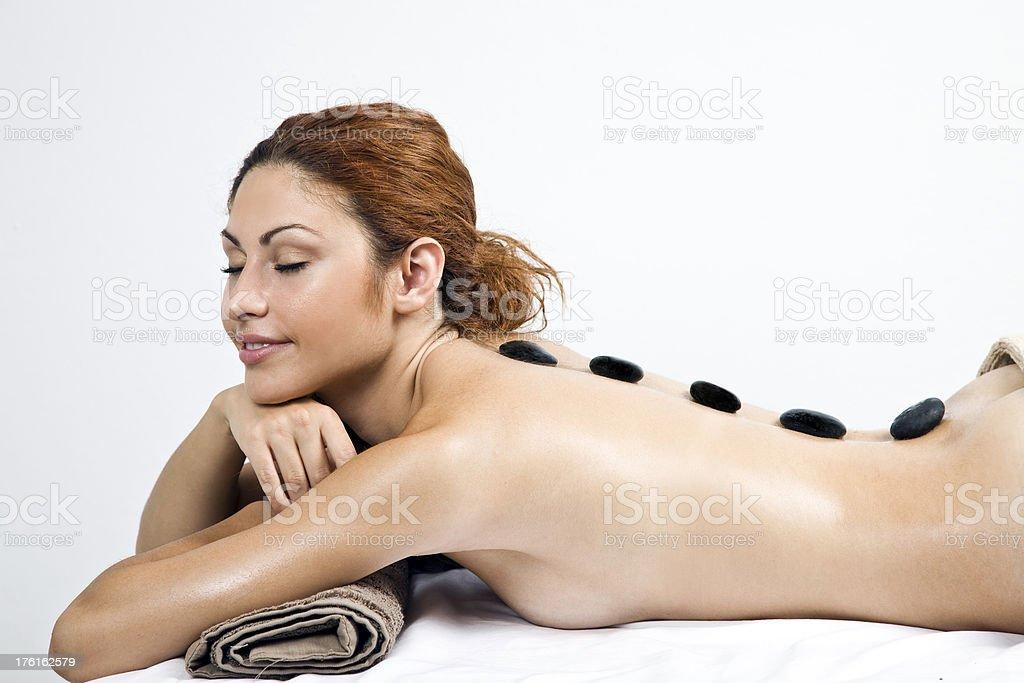 Stone massage royalty-free stock photo