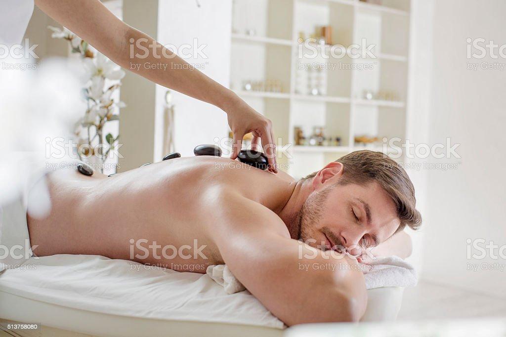 Stone massage stock photo