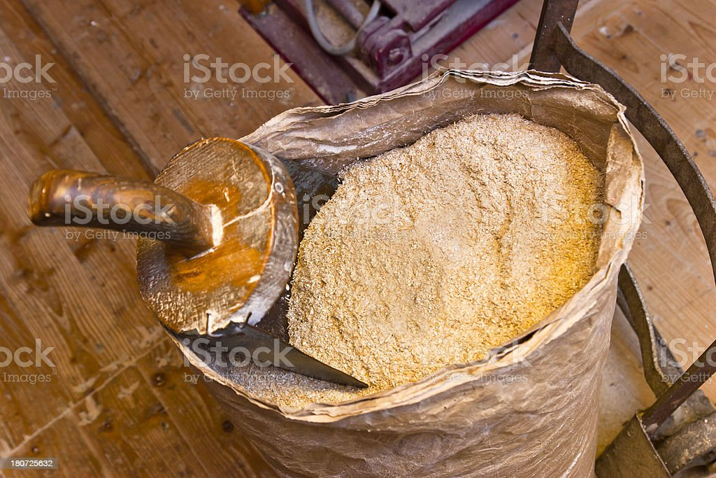 Stone Milled Flour stock photo