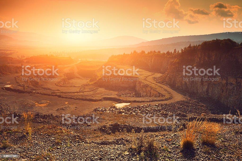 Stone mine stock photo