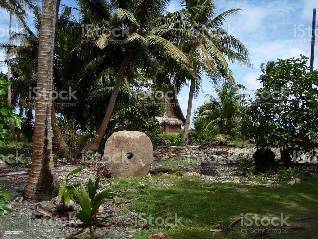 Stone money, Yap, Micronesia stock photo