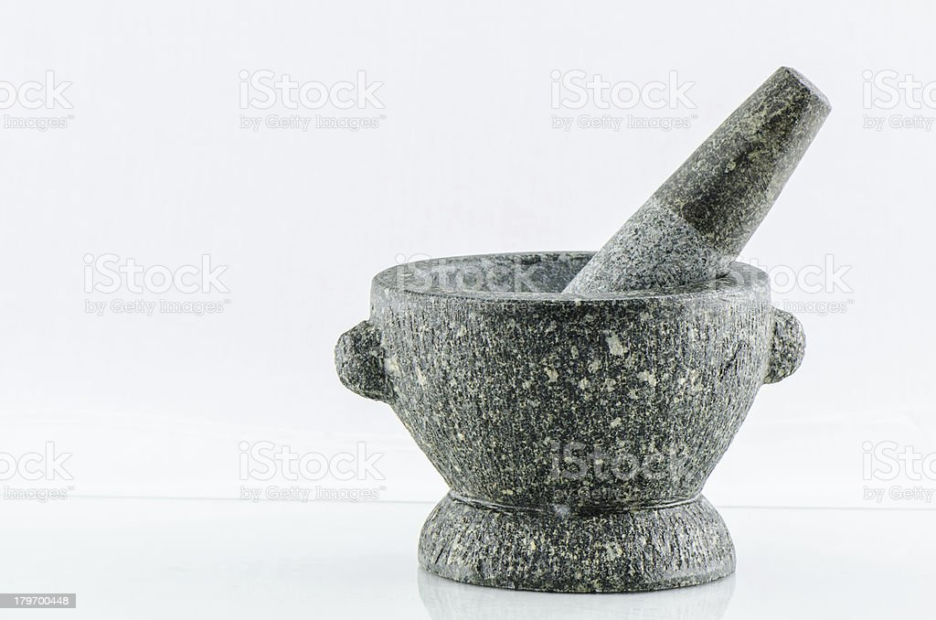 Stone Mortar and Pestle royalty-free stock photo