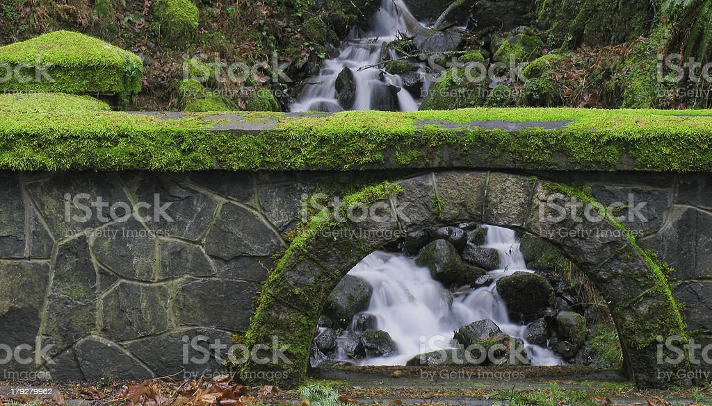 Stone Mossy Bridge royalty-free stock photo