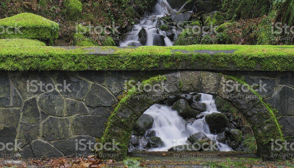 Stone Mossy Bridge stock photo