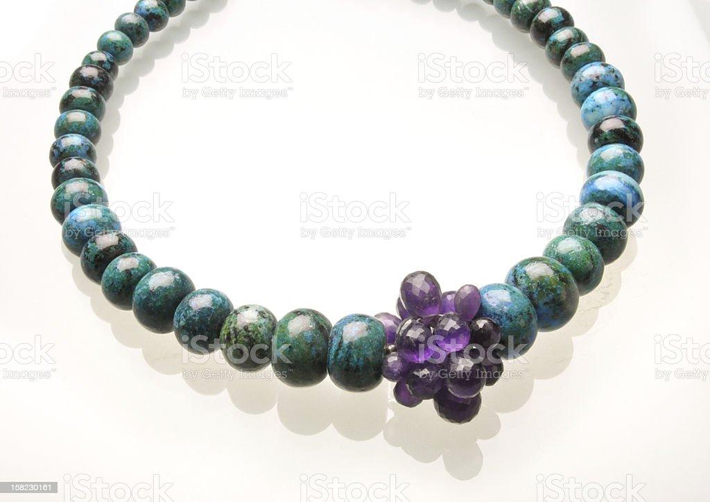 Stone necklace royalty-free stock photo