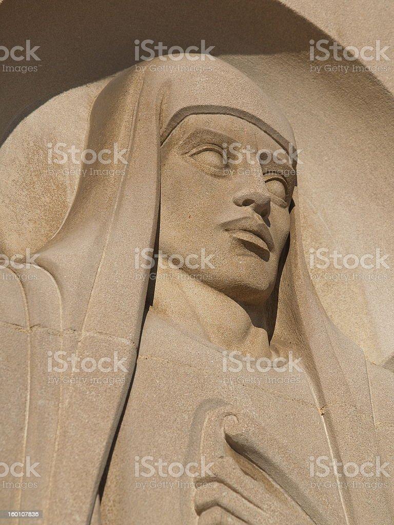 stone nun royalty-free stock photo