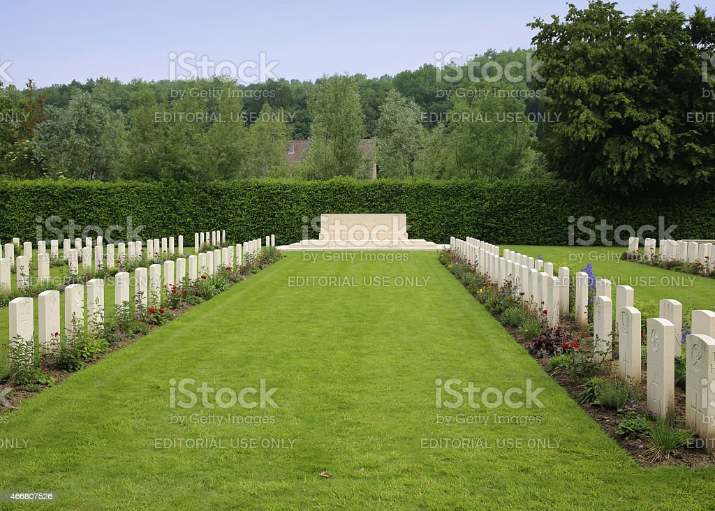 Stone of Remembrance Ploegsteert Memorial to the Missing  Belgium stock photo