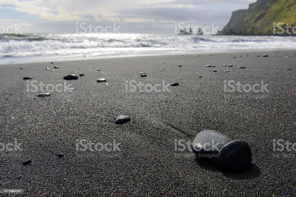 Stone on a beach stock photo