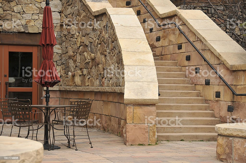 Stone Patio royalty-free stock photo