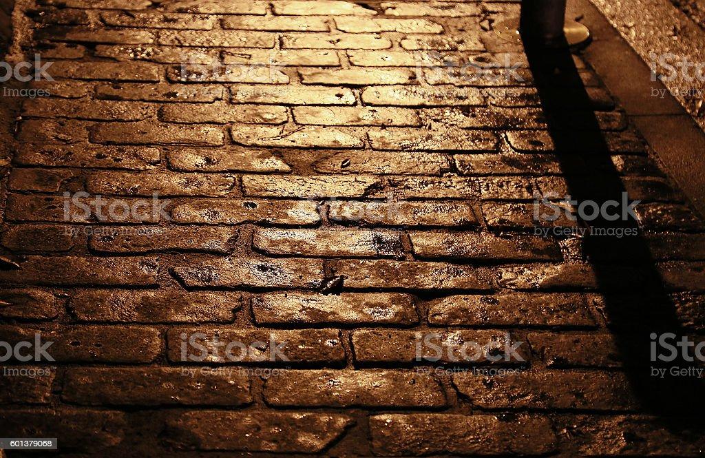 Stone pavement of the setting sun foto de stock libre de derechos