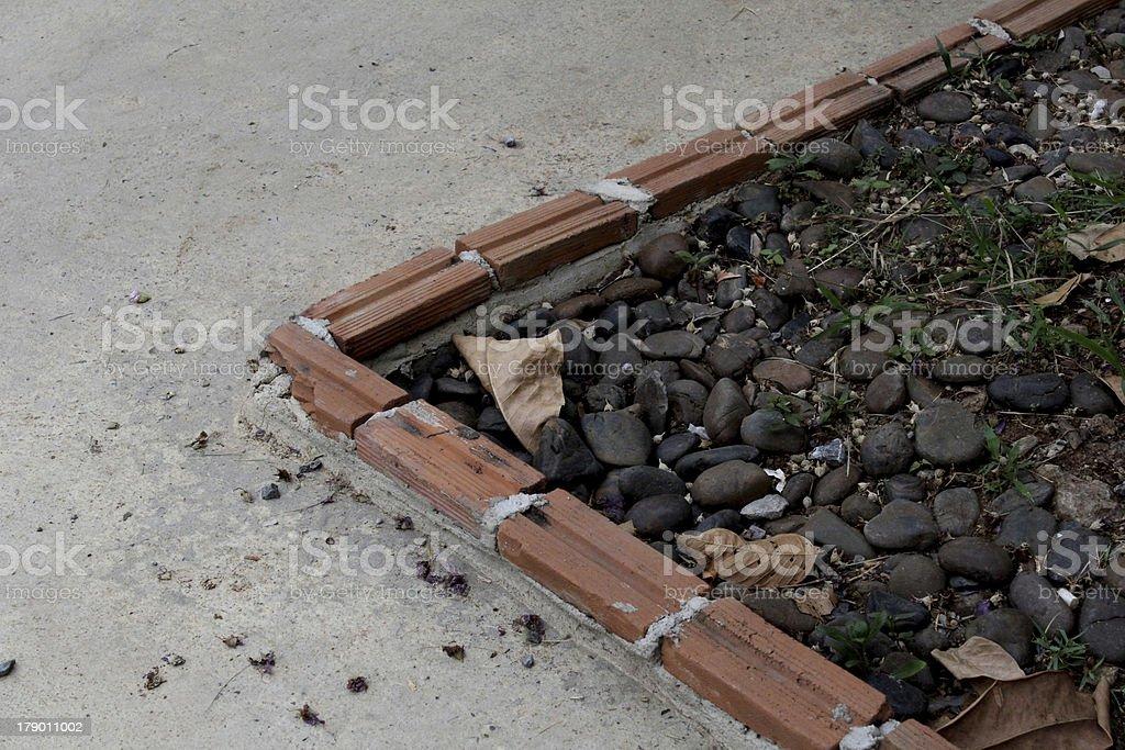 Stone pavement. royalty-free stock photo