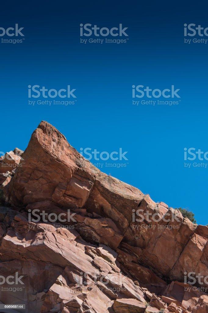 Stone Peak and Blue Sky stock photo