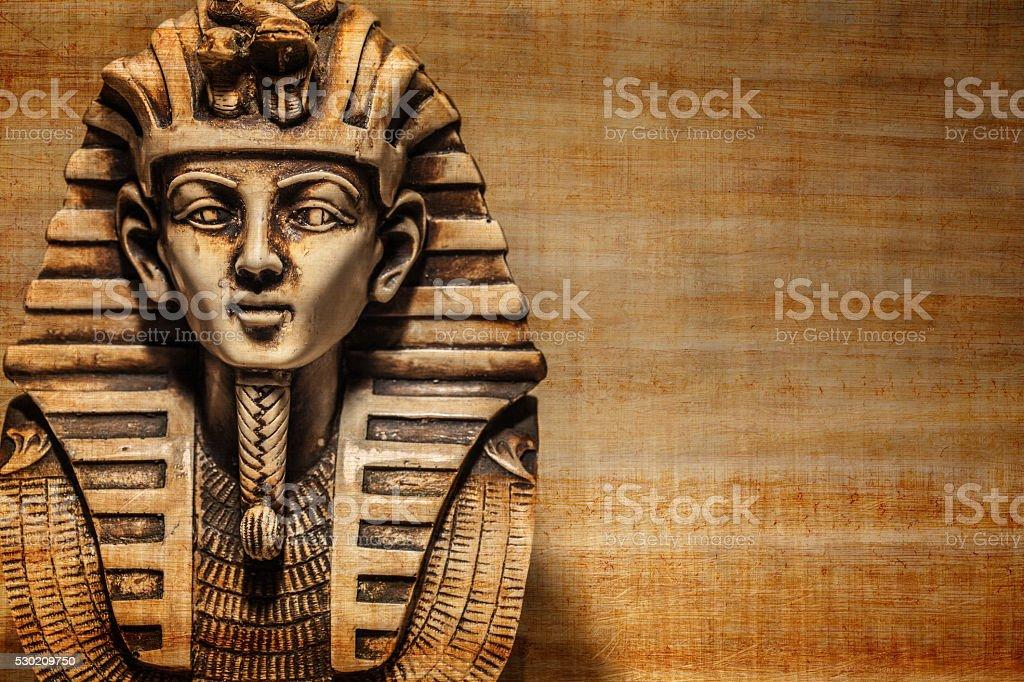 Stone pharaoh tutankhamen mask stock photo