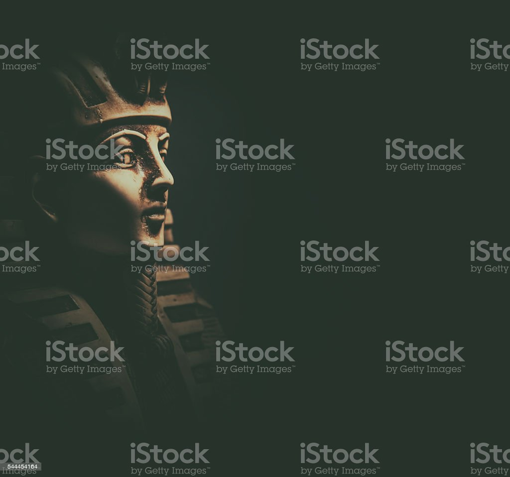Stone pharaoh tutankhamen mask stock photo