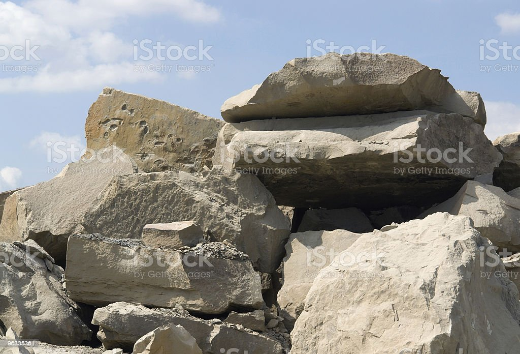 stone pile detail and sky royalty-free stock photo