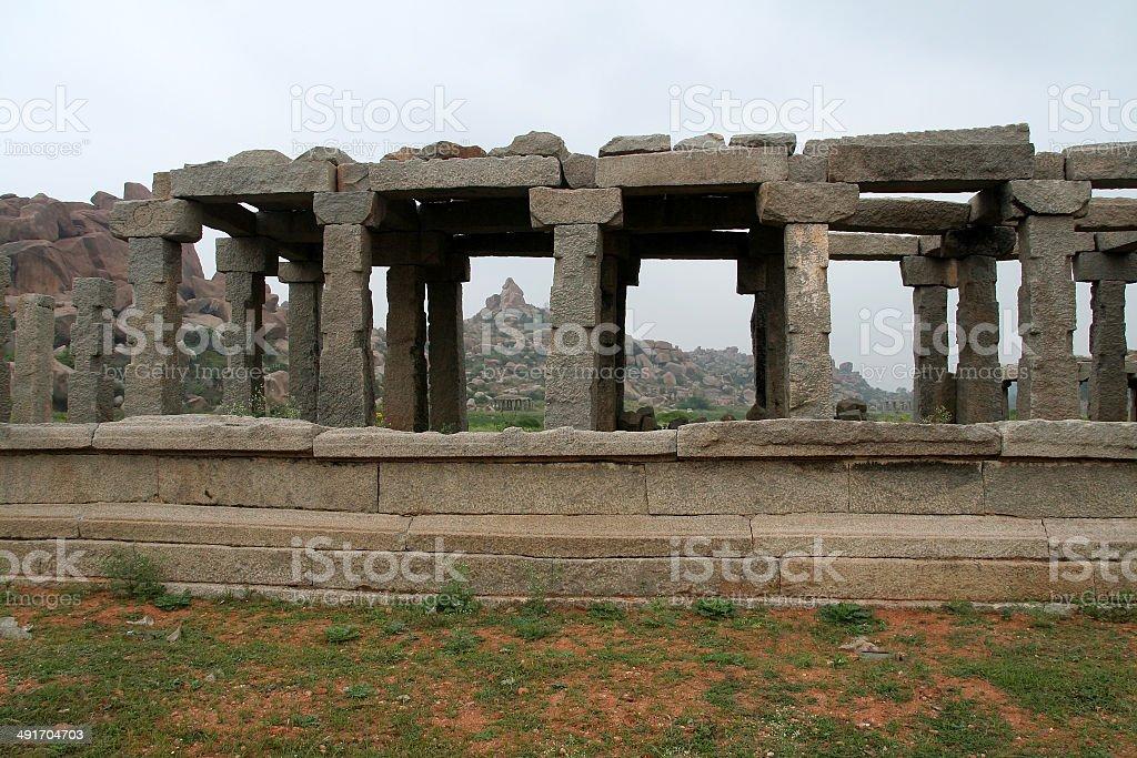 Stone Pillars and Canopy stock photo