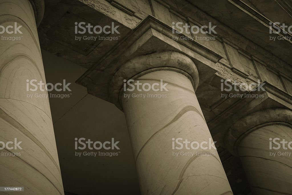 Stone Pillars royalty-free stock photo