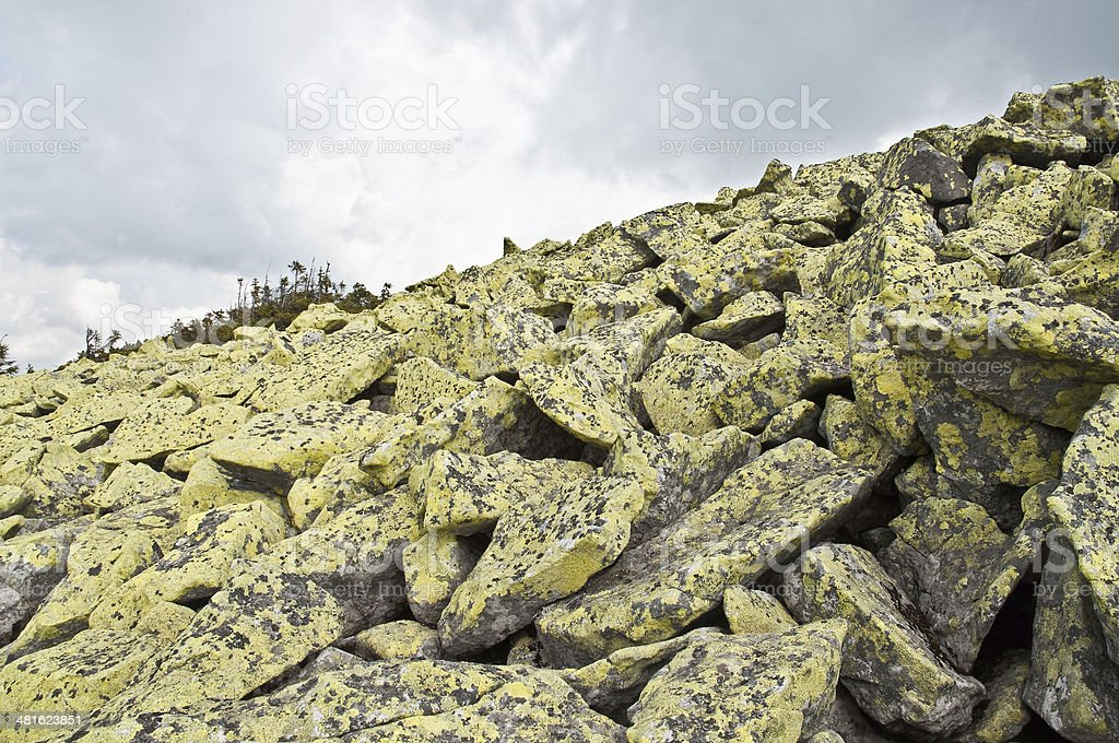 stone placer royalty-free stock photo